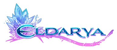 Blue and purple crystal, Eldarya logo